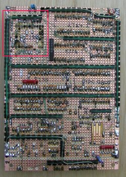 Back of the Z280 system board